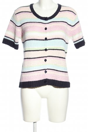 GCfontana Short Sleeve Knitted Jacket striped pattern casual look
