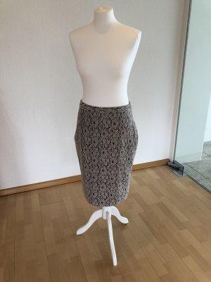 GCfontana Falda de encaje negro-crema