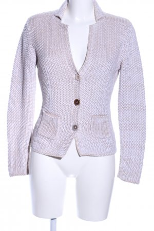GCfontana Strick Cardigan wollweiß meliert Business-Look