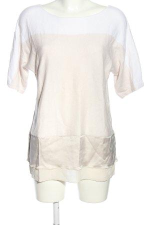 GCfontana Camicia maglia bianco-rosa stile casual