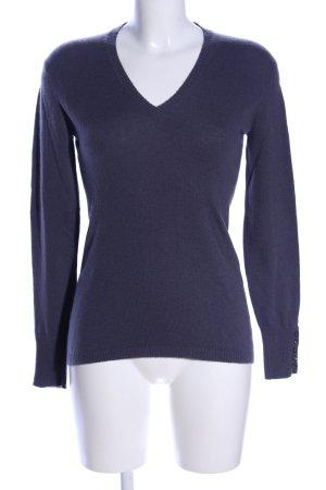 GCfontana V-Ausschnitt-Pullover blau Business-Look