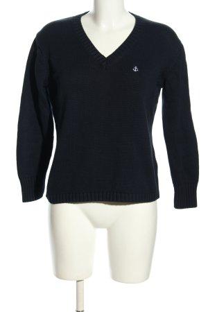 GCfontana V-Ausschnitt-Pullover blau Casual-Look