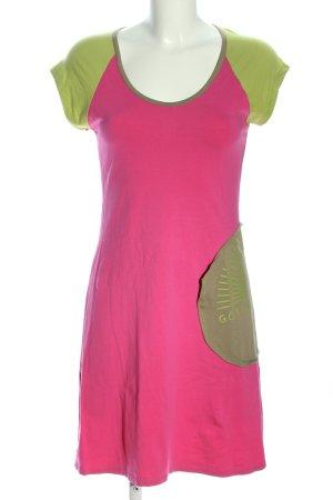 GDG Jerseykleid pink-grün Casual-Look