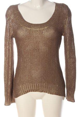 GDM Pullover all'uncinetto bronzo modello web stile casual