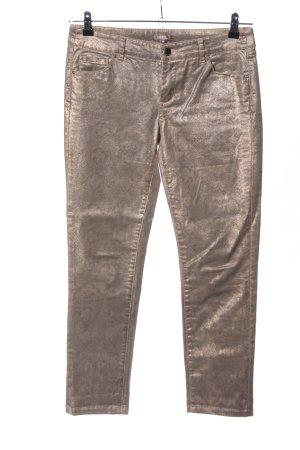 GDM Röhrenhose bronzefarben Animalmuster Casual-Look