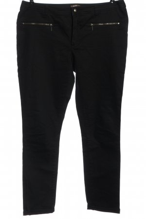 GDM Pantalon en jersey noir style décontracté