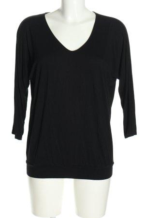 GDM V-Ausschnitt-Shirt schwarz Casual-Look