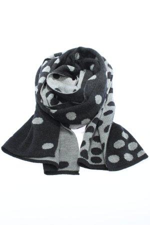 Gebeana Wollen sjaal zwart-lichtgrijs gestippeld patroon casual uitstraling