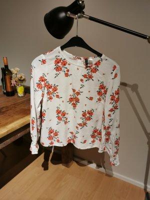 H&M Top koszulowy biały-różowy