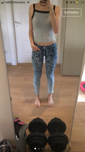 Geblümte Designer Jeans in 25