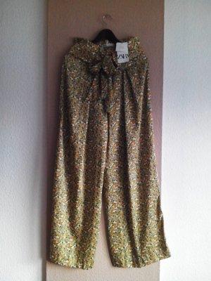Zara Pallazzobroek veelkleurig Polyester