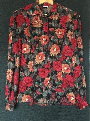Geblümte Vintage-Bluse