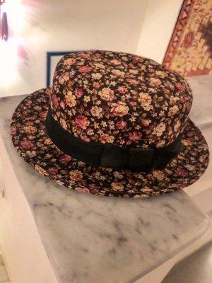 Kapelusz przeciwsłoneczny różowy-czarny Bawełna