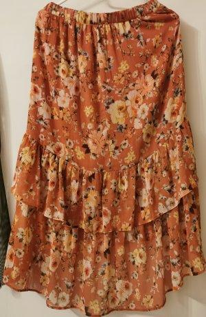 Orsay Asymetryczna spódniczka brzoskwiniowy