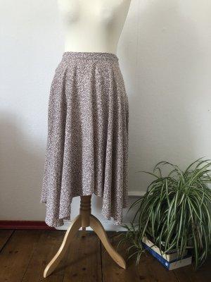 H&M Asymetryczna spódniczka biały-bordo