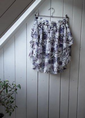 fresh lemons Warstwowa spódnica biały-jasny fiolet