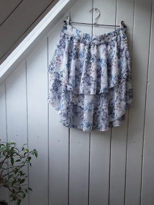 STYLEBOOM Warstwowa spódnica biały-błękitny