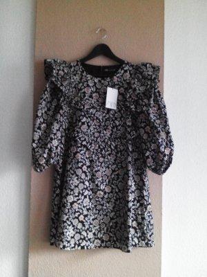 geblümtes Minikleid mit Volants aus Baumwolle, Grösse M, neu