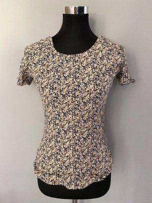 Prążkowana koszulka brąz-beżowy Wiskoza