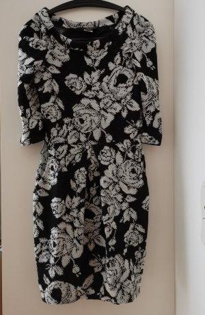 Geblumtes Kleid in schwarz weiß von Miss Sixty