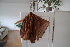 Gudrun Sjöden Crinkle Scarf light brown cotton
