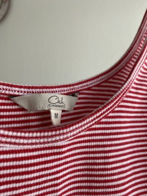 C&A Cropped Top white-red