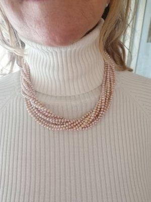 Naszyjnik z perłami różany