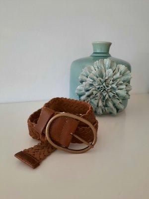 Made in Italy Leather Belt brown-cognac-coloured