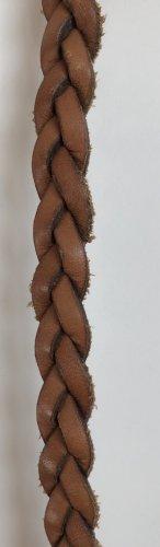 Pieces Ceinture tressée brun cuir