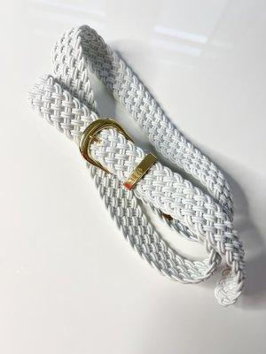 Lauren by Ralph Lauren Cinturón de tela blanco-color oro