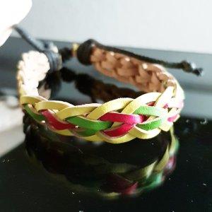 Bracelet en cuir brun sable
