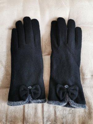 Gevoerde handschoenen zwart