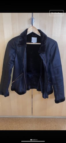Charles Vögele Fake Fur Jacket black