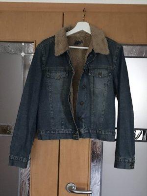 Gefütterte Jeansjacke mit Teddy Fell