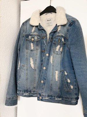Primark Denim Jacket azure-white