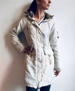 Vero Moda Cappotto con cappuccio bianco-bianco sporco