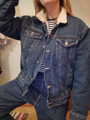 gefütterte oversized Jeansjacke