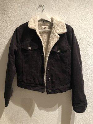 Pull & Bear Flight Jacket oatmeal-dark blue