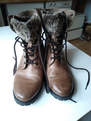 Landrover Lace-up Booties brown
