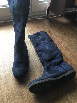 Gefütterte Stiefel dunkelblau Gr. 37 NEU