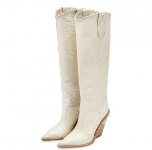Boots western crème-blanc