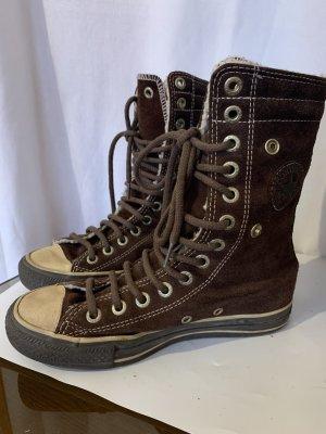Converse Botas de piel beige-marrón Cuero