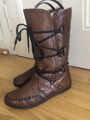 Vagabond Lace-up Boots dark brown