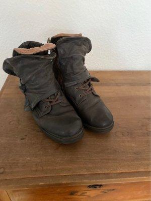 AS98 Buty zimowe szaro-brązowy