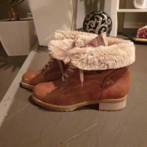 van der Laan Bottine d'hiver marron clair cuir