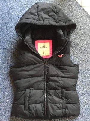 Hollister Chaleco con capucha negro-rosa