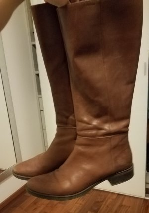 Geox Jackboots bronze-colored leather