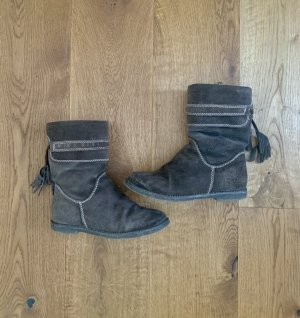 Marco Tozzi Winter Boots dark brown-olive green leather