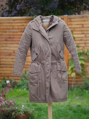 Closed Manteau à capuche gris brun