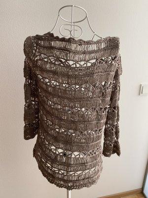 suisses collection Bolero lavorato a maglia grigio chiaro